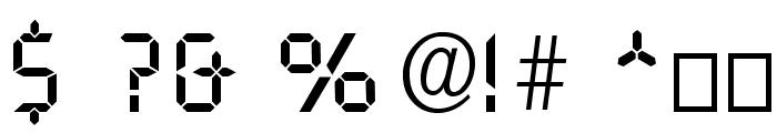 Digital Normal Font OTHER CHARS