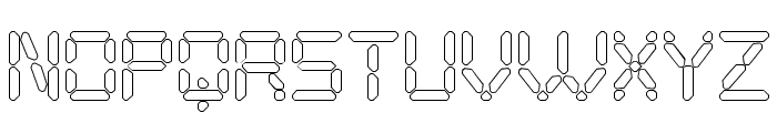 Digital Play Hollow St Font UPPERCASE