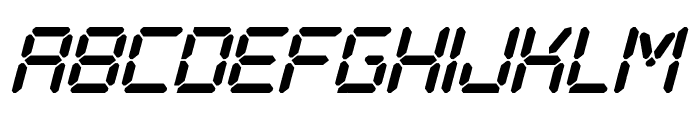 Digital Play Italic St Font LOWERCASE