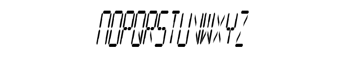Digital Readout Condensed Font UPPERCASE