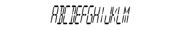 Digital Readout Condensed Font LOWERCASE
