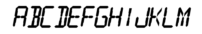 Digital Readout Thick Font UPPERCASE