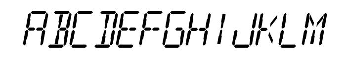 Digital Readout Font LOWERCASE