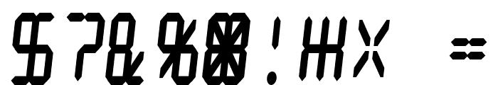 Digital dream Fat Skew Narrow Font OTHER CHARS
