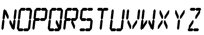 Digital dream Fat Skew Narrow Font UPPERCASE