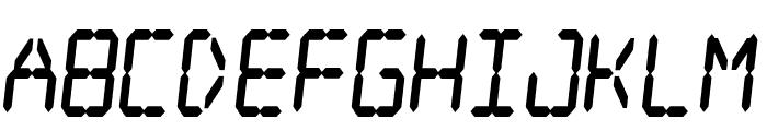 Digital dream Fat Skew Narrow Font LOWERCASE