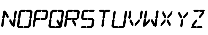 Digital dream Fat Skew Font UPPERCASE