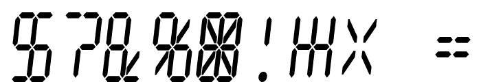 Digital dream Skew Narrow Font OTHER CHARS