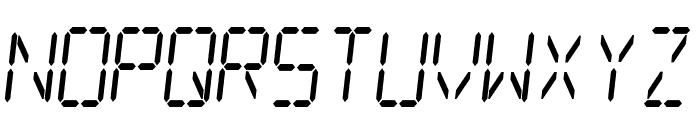 Digital dream Skew Narrow Font UPPERCASE