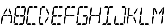 Digital dream Skew Narrow Font LOWERCASE