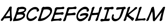 DigitalStrip BB Italic Font UPPERCASE