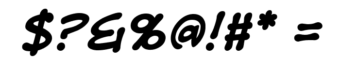 DigitalStripBB-BoldItalic Font OTHER CHARS