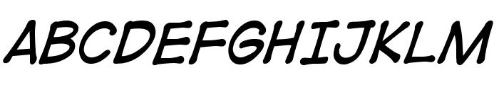 DigitalStripBB-Italic Font UPPERCASE