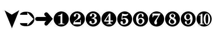 Digits Font LOWERCASE