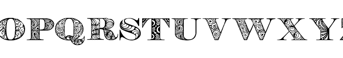 Digizen Font UPPERCASE
