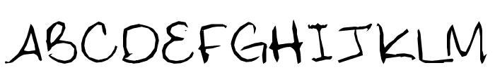 Digna's Handwriting Font UPPERCASE