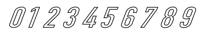 Din Kursivschrift Breit Ghost Font OTHER CHARS