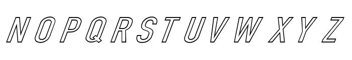 Din Kursivschrift Breit Ghost Font UPPERCASE