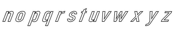 Din Kursivschrift Breit Ghost Font LOWERCASE