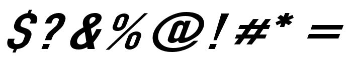 Din Kursivschrift Breit Font OTHER CHARS