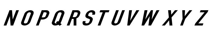 Din Kursivschrift Breit Font UPPERCASE