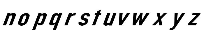 Din Kursivschrift Breit Font LOWERCASE