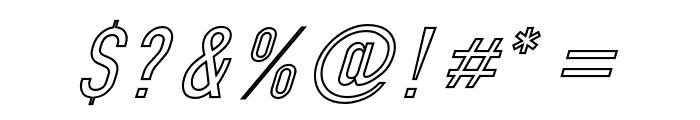 Din Kursivschrift Eng Ghost Font OTHER CHARS