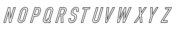 Din Kursivschrift Eng Ghost Font UPPERCASE
