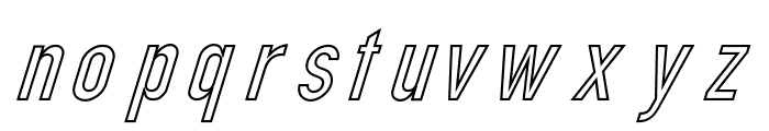 Din Kursivschrift Eng Ghost Font LOWERCASE