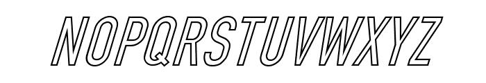 Din Kursivschrift Ghost Eng Font UPPERCASE