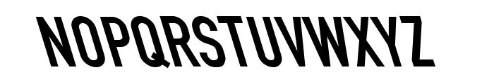 Din Kursivschrift Left Eng Font UPPERCASE