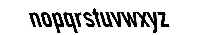 Din Kursivschrift Left Eng Font LOWERCASE