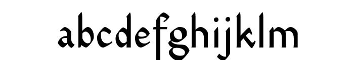 Dinah VAA Font LOWERCASE