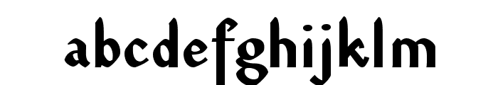 DinahVAA Bold Font LOWERCASE