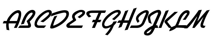 Diner Font UPPERCASE