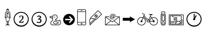 Dingbats2SamplerOT Font LOWERCASE