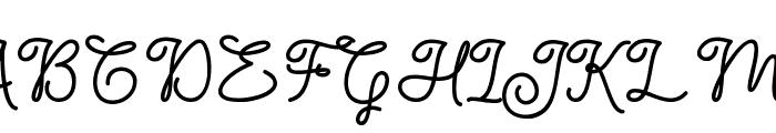 Dinila Script Font UPPERCASE