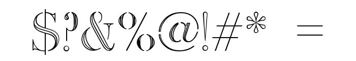Dinimal  Regular Font OTHER CHARS