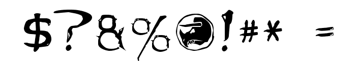 Dinobots Font OTHER CHARS