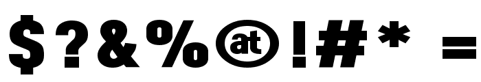 Dinova Black Font OTHER CHARS