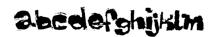 Dippex Font LOWERCASE