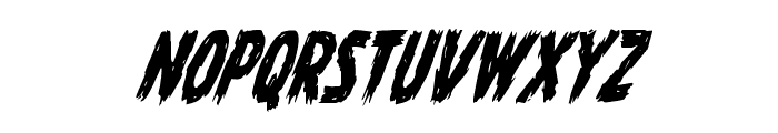 Dire Wolf Condensed Italic Font LOWERCASE