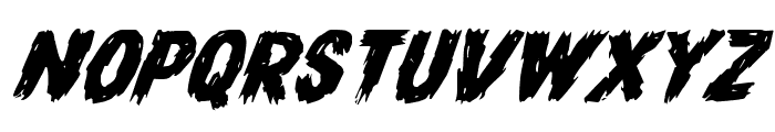 Dire Wolf Expanded Italic Font UPPERCASE