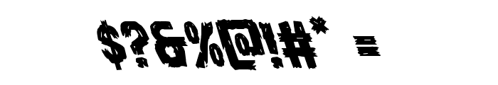 Dire Wolf Leftalic Font OTHER CHARS