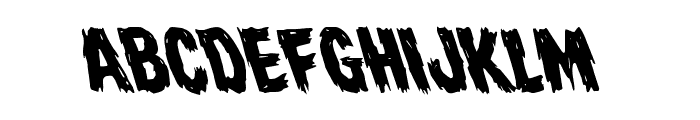 Dire Wolf Leftalic Font LOWERCASE
