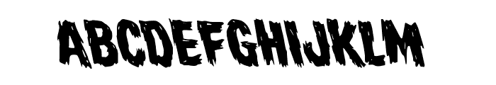 Dire Wolf Rotaleft Font LOWERCASE