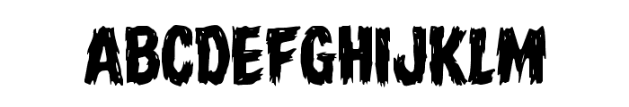 Dire Wolf Staggered Regular Font LOWERCASE