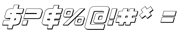 Direktor 3D Italic Font OTHER CHARS