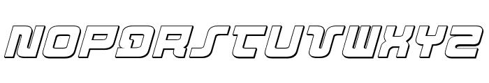 Direktor 3D Italic Font LOWERCASE