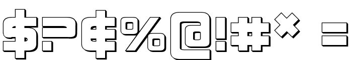 Direktor 3D Font OTHER CHARS